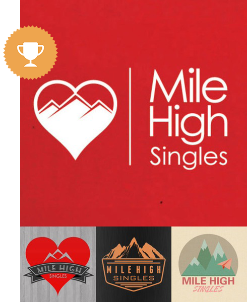 mile high singles dating logo design