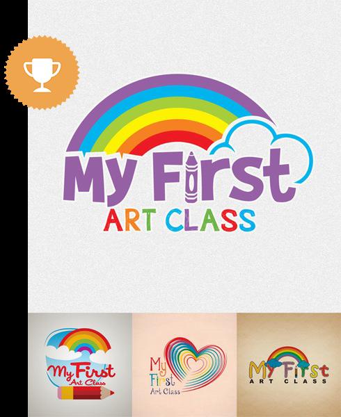 my first art class education logo design