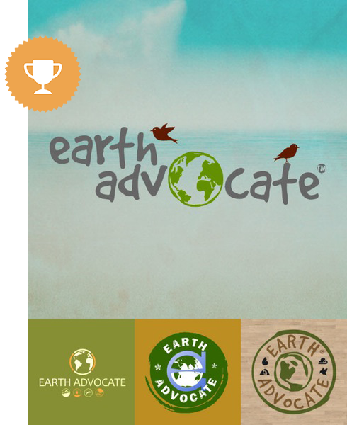 earth advocate environmental logo design