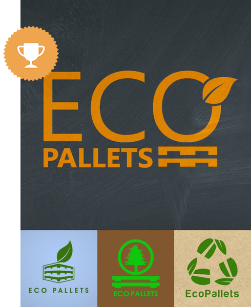 ecopallets environmental logo design