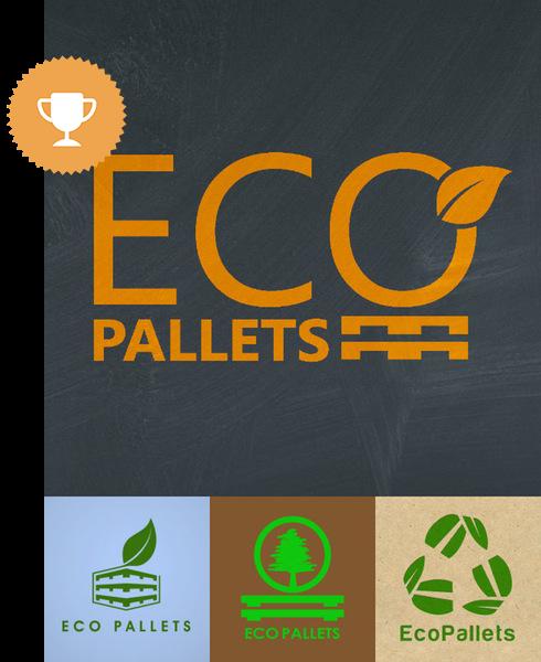 ecopallets environmental logo design