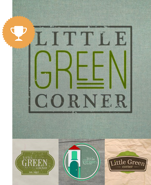 little green corner environmental logo design