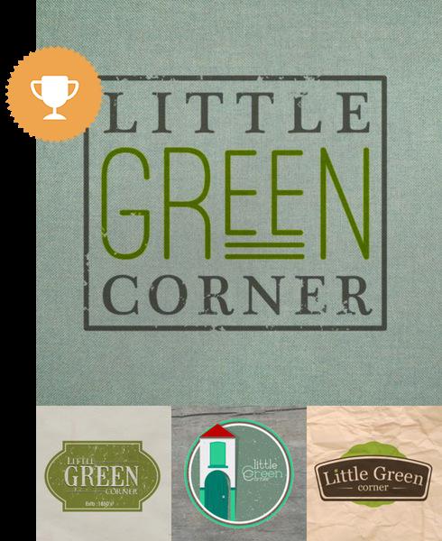little green corner environmental logo design