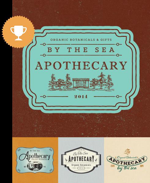 by the sea apothecary floral logo design