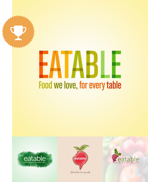 eatable food & drink logo design