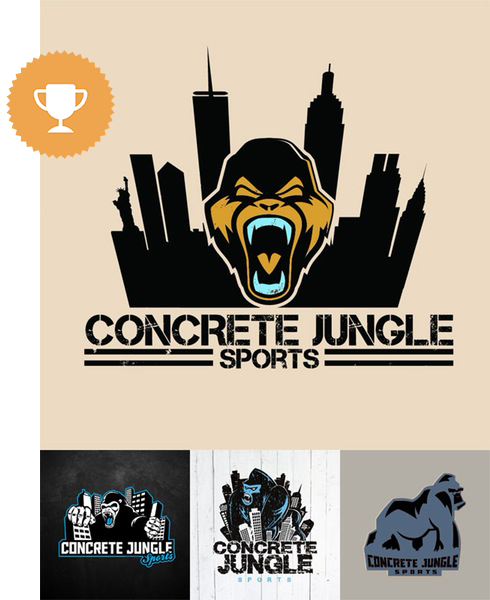 concrete jungle sports games & recreation logo design