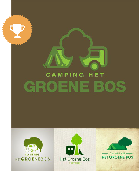 camping het groene bos games & recreation logo design