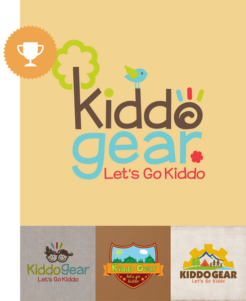 kiddogear games & recreation logo design