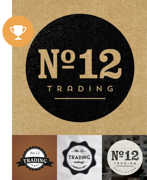 no. 12 home furnishings logo design
