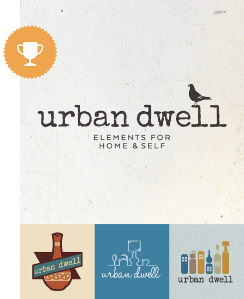 urban dwell home furnishings logo design