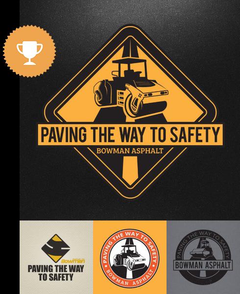bowman asphalt industrial logo design