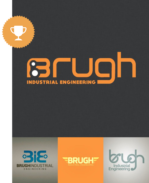 brugh industrial logo design