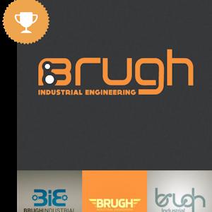 brugh industrial logo design