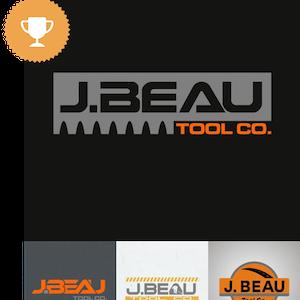 j. near tool co. industrial logo design