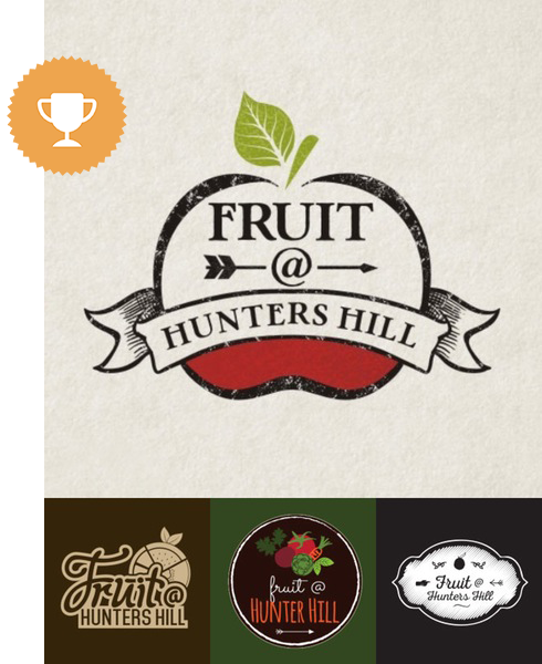 fruit @ hunters internet logo design