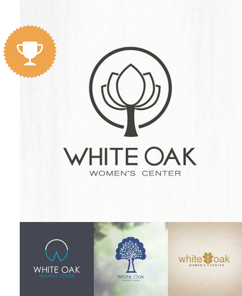 white oak women's center medical logo design