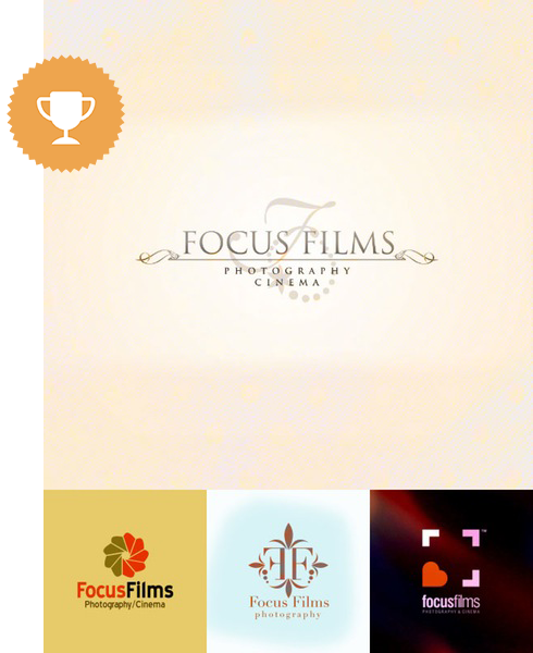 focus films photography logo design
