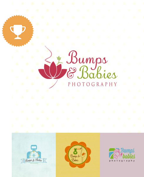 bumps & babies photography logo design