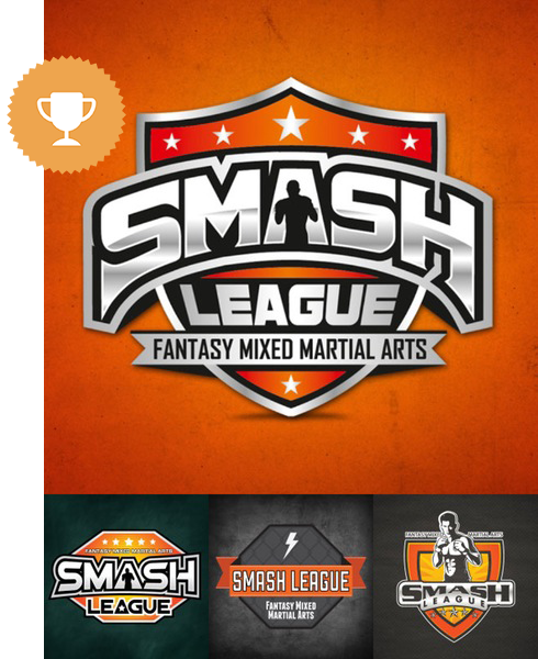 smash league physical fitness logo design
