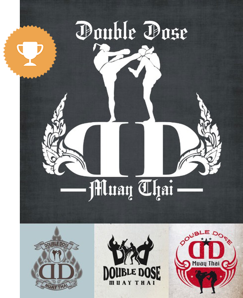 double dose may thai physical fitness logo design