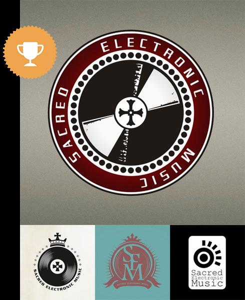sacred electronic music religious logo design