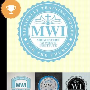 biblically training women for the church religious logo design