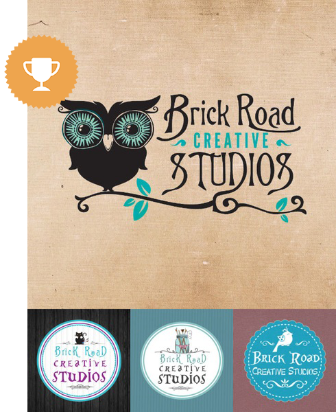brick road creative studios retail logo design