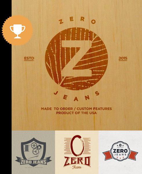 zero jeans retail logo design