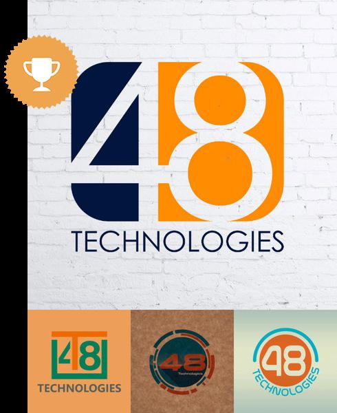 48 technologies technology logo design