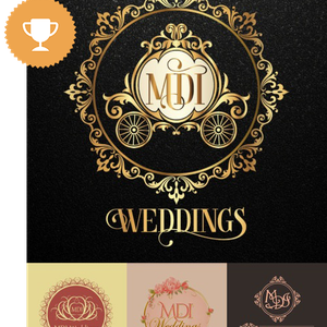 mdi wedding services logo design