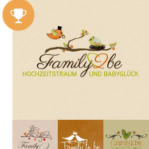 family2be wedding services logo design
