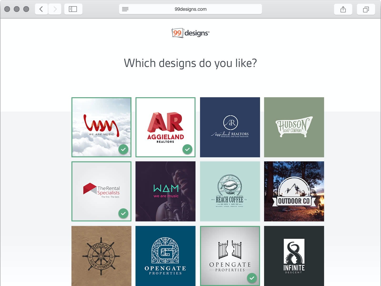 Start a web design contest and get dozens of choice