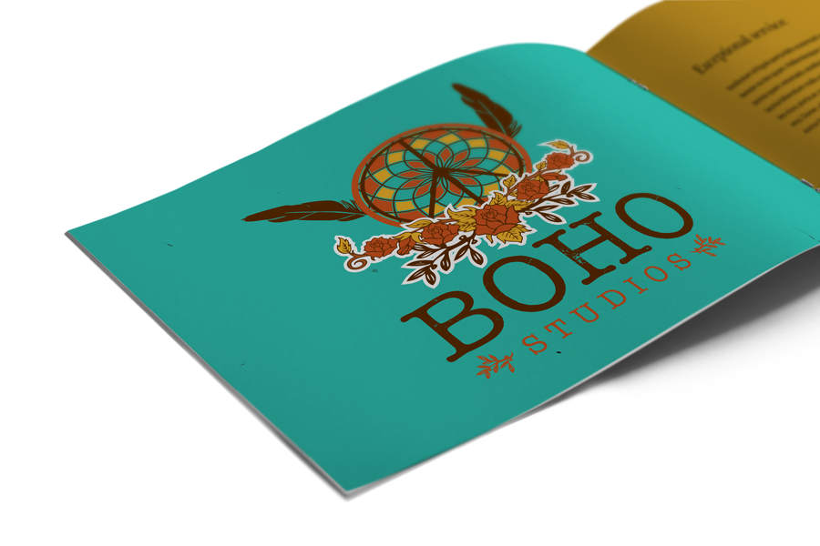 Art & design logo design in book format