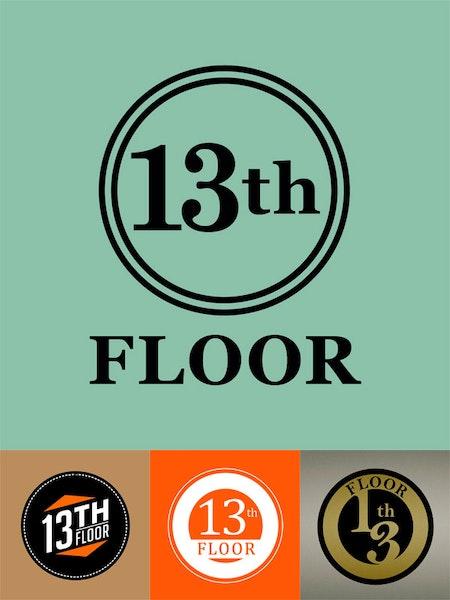Custom financial logo design 99designs for 13th floor design