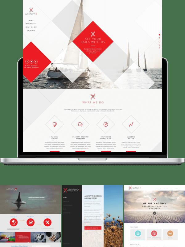 Agency X web design contest