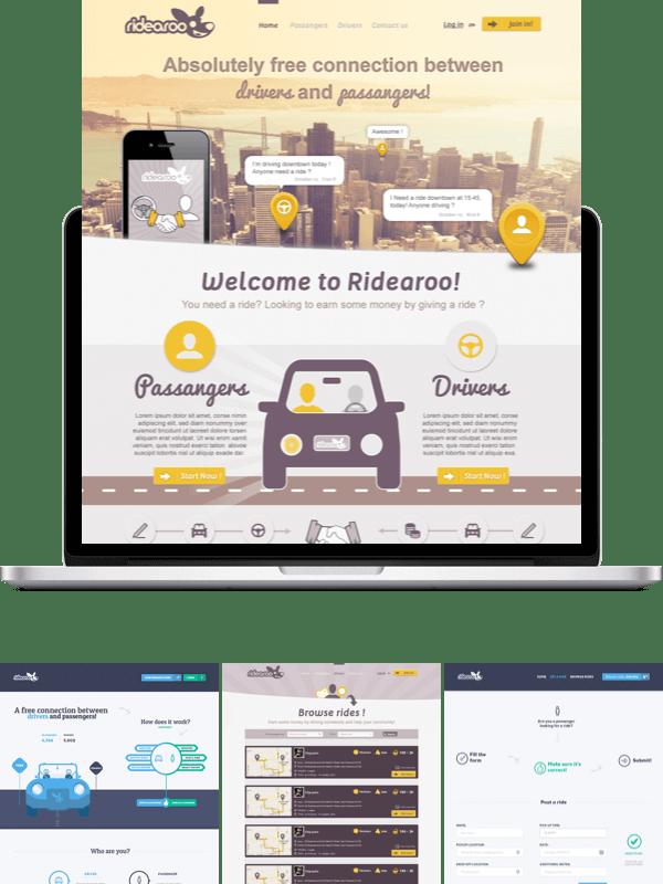 Ridearoo web design contest
