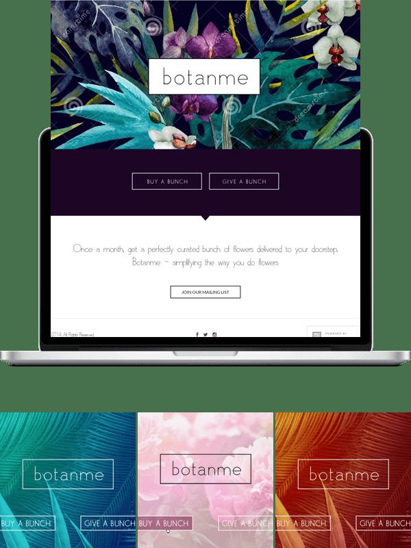 BOTANME web design contest
