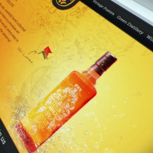 Winning Web page design entry for Ceylon Arrack