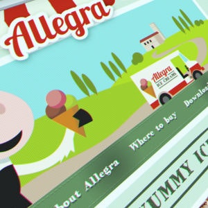 Winning Web page design entry for Allegra