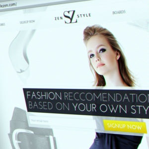 Winning Web page design entry for StyleZen