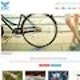 Runner up Web page design entry for Peace Bicycles