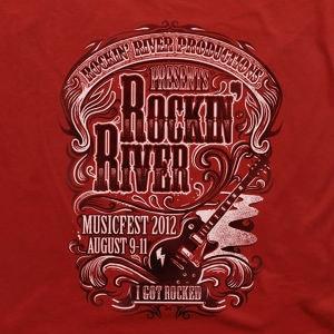 Winning T-Shirt entry for Rockin' River
