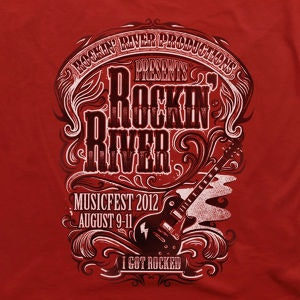Winning T-Shirt entry for Rockin' River
