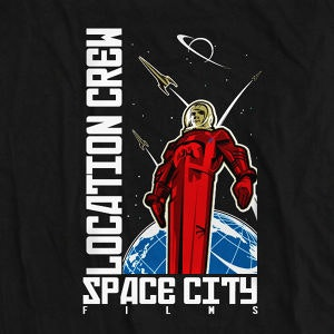 Winning T-Shirt entry for Space City Films