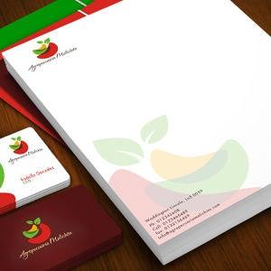 Winning Stationery entry for Agropecuaria Malichita