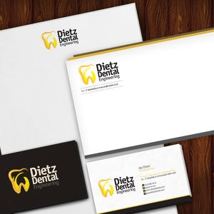 Winning Stationery entry for Dietz Dental Engineering