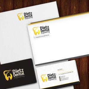 Winning Stationery entry for Dietz Dental Engineering