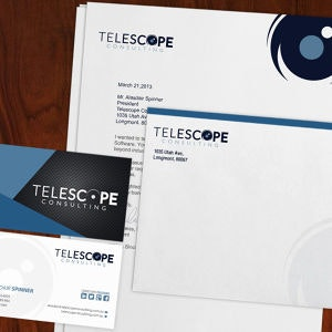 Winning Stationery entry for Telescope Consulting