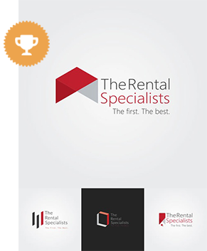 the rental specialists real estate logo design