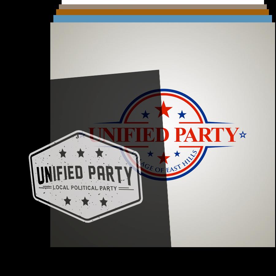 political logo design header